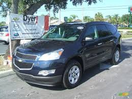 chevrolet traverse ls 2011 dark blue metallic chevrolet traverse ls 36063456 gtcarlot