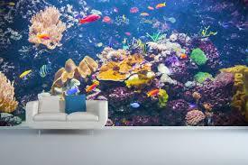 underwater wall murals home design ideas and pictures good underwater wall murals zimmer mit sofa und wand aus beton