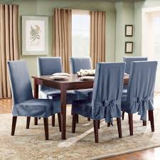 Dining Room Blue Fabric Upholstered Dining Chair Covers And - Cheap dining room chair covers