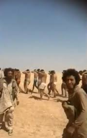 syrian desert isis terrorists film mass execution of 250 syrian soldiers ny