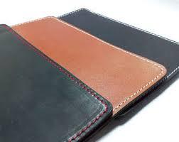Black Leather Desk Mat Felt Mouse Pad Etsy