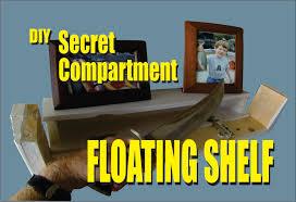 diy secret compartment floating shelf youtube