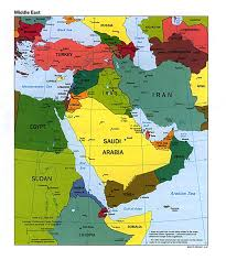 Countries In Asia Map by Map Of Countries In Western Asia And The Middle East Southwest