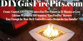 How To Make A Gas Fire Pit by Diygasfirepits Com Create A Diy Custom Gas Fire Pit Table Feature