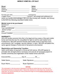 mobile home bill of sale form bill of sale sheets pinterest