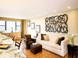 marvelous corner room art work features white sofa bench and large