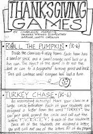 thanksgiving great activities
