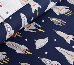 organic wyatt rocket quilt cover pottery barn kids