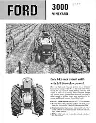 ford 3000 vineyard dealer ad brochure