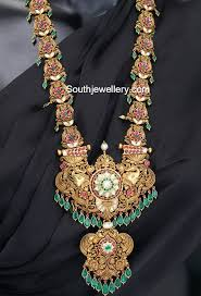 south jewellery designers nakshi kundan haram traditional jwellery