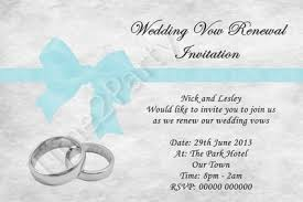 vow renewal invitations personalised invitations wedding vow vows renewal rings and bow tq