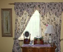 bedroom cozy red white floral motif bedroom curtains combination