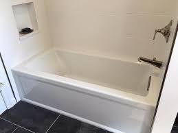 Bathtubs For Sale Home Depot Kohler Archer 5 Ft Acrylic Left Hand Drain Rectangular Alcove