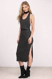 black and white dresses black white dress racerback dress midi stripe dress