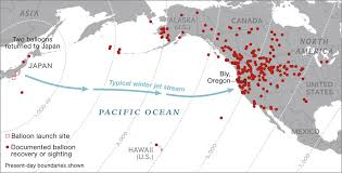 United States Canada Map by Japan U0027s Secret Wwii Weapon Balloon Bombs
