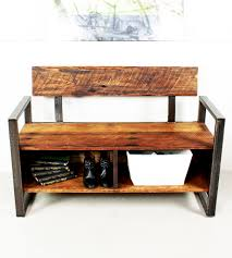 reclaimed wood storage bench wood storage bench wood storage