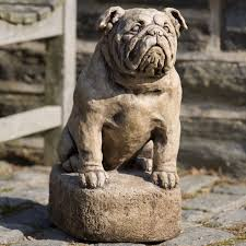 cania international petey the bulldog cast garden statue