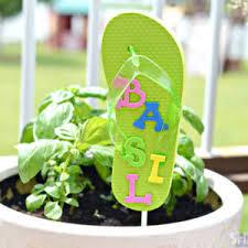 Garden Crafts For Children - pretty fun flip flop crafts for kids and also summer garden craft
