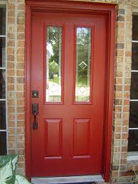 painting front door architecture charming gray house exterior paint idea with red door