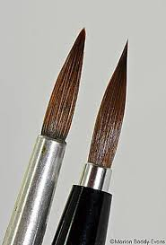 types and shapes of art paint brushes