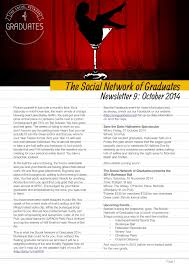 save the date halloween newsletters the social network of graduates