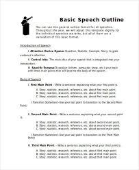 speech outline example informative speech outline template