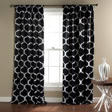Black And White Valances Geo Room Darkening Window Curtain Set Lush Decor Www Lushdecor Com