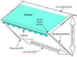 Vinyl Awning Fabric Carefree Premium Vinyl Replacement Rv Awning Fabrics