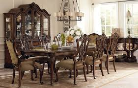 French Dining Room Furniture Vintage Brown Stained Teak Wood Dining Table With Apron And Carved