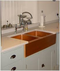 kitchen hammered copper farmhouse kitchen sinks frosted glass