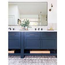 Navy Blue Bathroom Vanity Windsong Tour Basement Pt 1 Navy Cabinets Studio Mcgee And