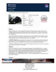 mercedes roswell road 2012 mercedes sprinter passenger for sale in atlanta