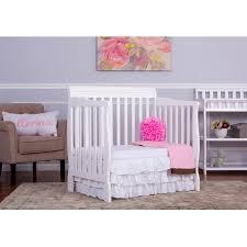 Mini Crib With Mattress by Dream On Me Aden 4 In 1 Convertible Mini Crib Mystic Gray