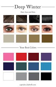 best hair color for deep winters how to create your personal color palette plus take our color