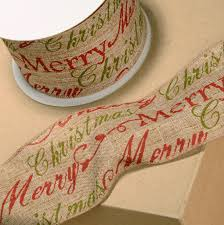 wired christmas ribbon hessian wired christmas ribbon 60mm cake craftcake craft