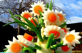 decoration flowers how to make carrot radish flowers vegetable carving garnish