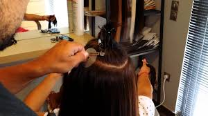 Hair Extensions Procedure by Lefteris Hair Extensions τοποθέτηση με κερατίνη Youtube