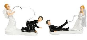 ã tole mariage figurine mariage a la pêche 2 modèles 14 cm vente achat
