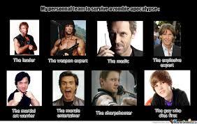 Zombie Team Meme - best zombie apocalypse s survival team by recyclebin meme center
