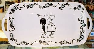 personalized wedding platter fancy wedding platter c the claypen