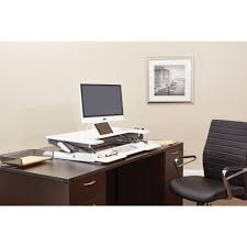 osp furniture multi position desk riser dr3622 wh the home depot