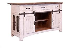 amazon com anton farmhouse solid wood distressed white sliding
