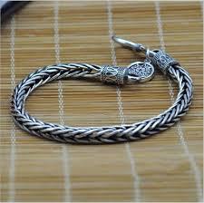 silver rope chain bracelet images Online shop men 39 s silver bracelet 925 sterling silver vintage jpg