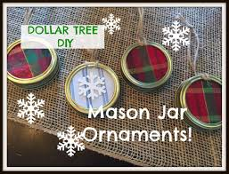 dollar tree jar lid ornaments plaid week day 6