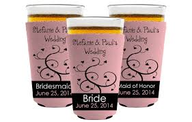 personalized wedding koozies custom wedding koozies