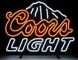 vintage coors light neon sign 2018 coors light beer neon sign real glass tube bar pub store