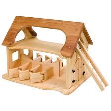 Toy Barn With Farm Animals Natural Wooden Toy Stable Waldorf Wooden Stable Toy Barn Wooden