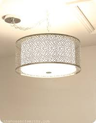 drum shade lighting from lowes laundry room ideas