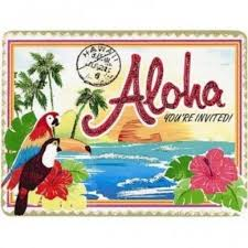 aloha island wish you were here birthday invitations