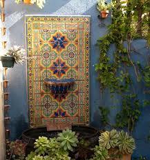 lovable garden wall tiles home improvement outdoor wall fountains